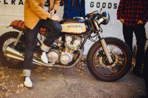 moto vintage homme